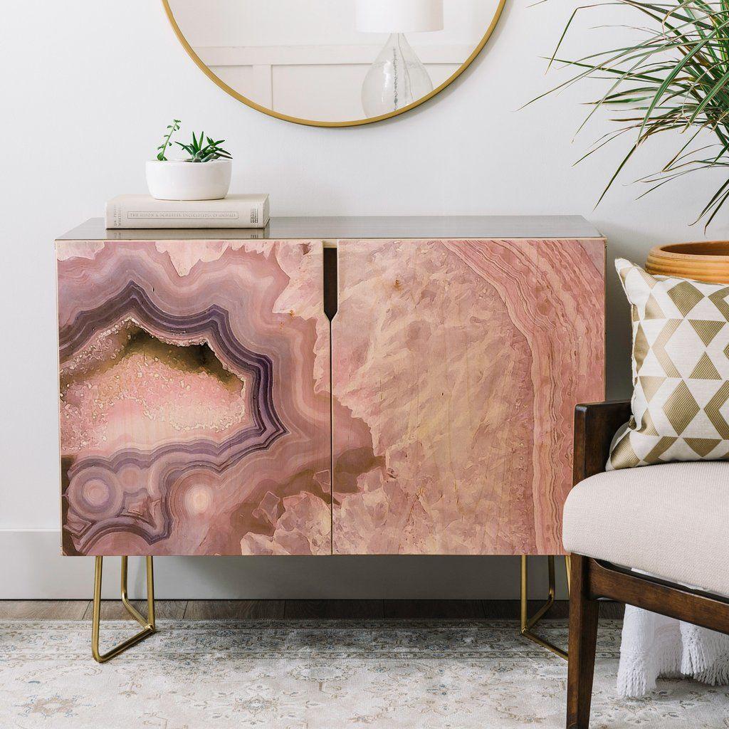 Emanuela Carratoni Pale Pink Agate Credenza | DENY Designs Home Accessories