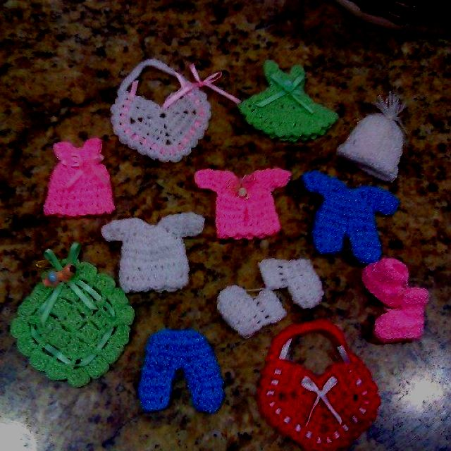 Simple Crochet Pattern For A Baby Blanket : Crochet baby shower favors Baby Shower Ideas Pinterest ...