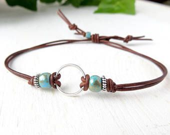 Beaded Leather Wrap Stackable Bracelet for Women with Charm, Multistrand Seed Bead Bracelet, Last Minute Christmas Gift, Black Friday