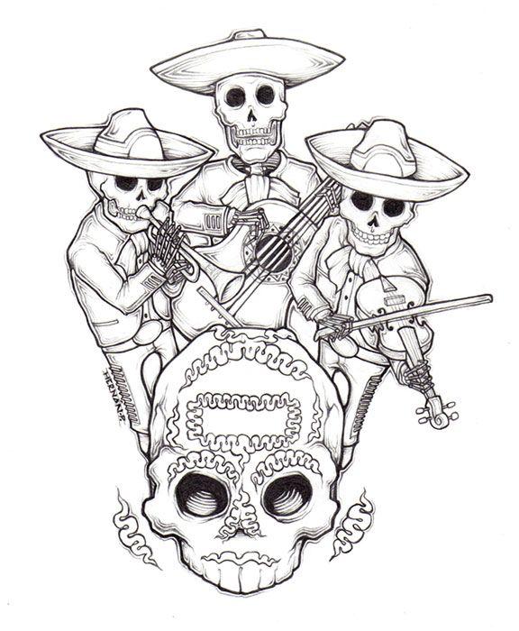 mariachi dia de muertos by dr surdeviantartcom on deviantart