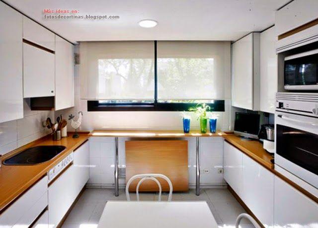 Que Cortinas Poner En La Cocina Cocinas Pinterest Cucina - Que-cortinas-poner-en-la-cocina