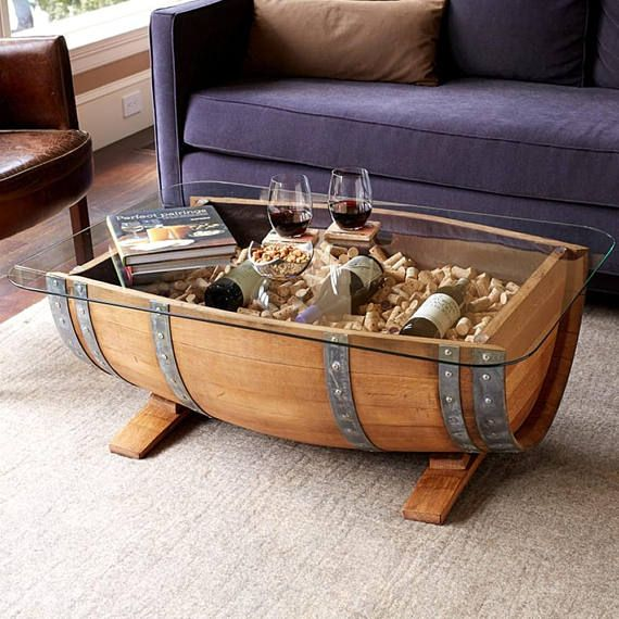 Wine Or Whiskey Barrel Coffee Table For The Home Wine Barrel