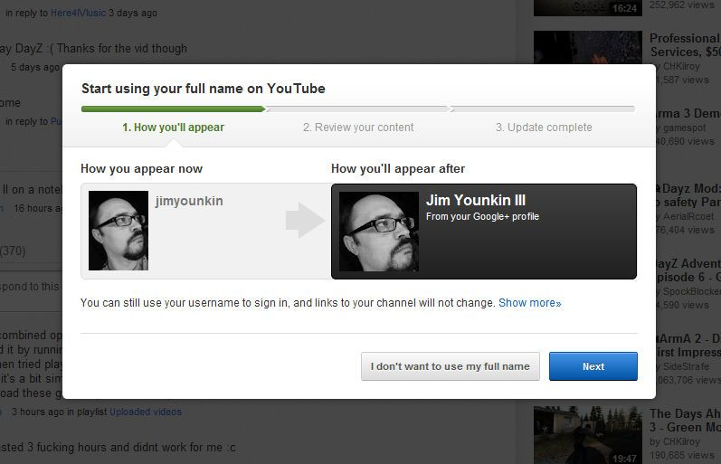 YouTube Pushing Users Switch To Real Names