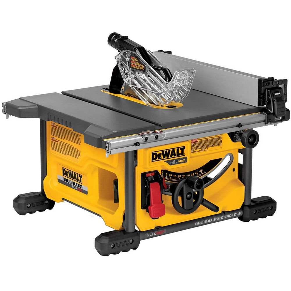 dewalt dcs7485b flexvolt 60 volt 8 1 4 inch adjustable table saw rh pinterest com