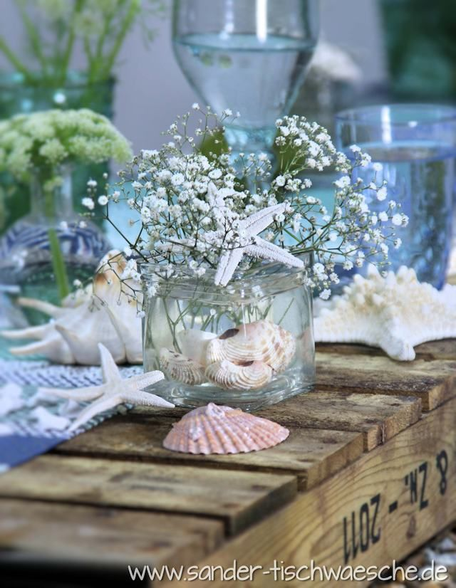 Blaue Tischdekoration Maritim Garten Maritime Hochzeit Hochzeit