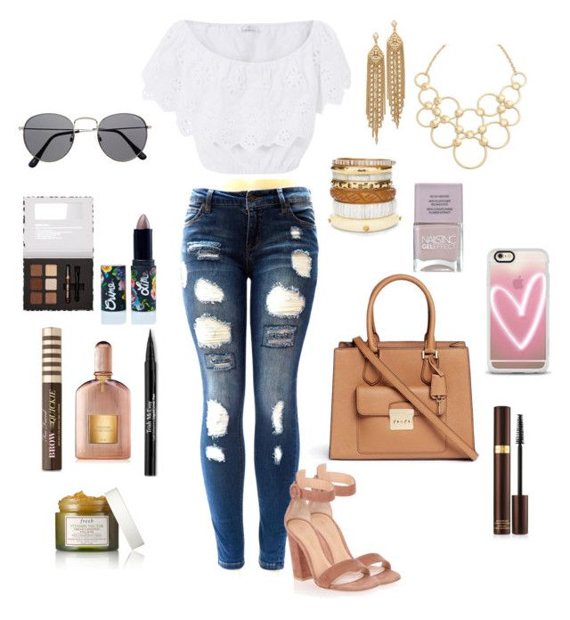 """Real good feeling something bad about to happen"" by eliyanakubelis on Polyvore featuring Miguelina, Gianvito Rossi, Michael Kors, Chico's, Capwell + Co, Vera Bradley, Casetify, Nails Inc., Too Faced Cosmetics and Lime Crime"