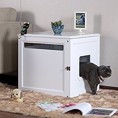 Petsfit Nightstand Pet House Cat Litter Box Cover 60cm X 50cm X 55cm Small Apartment Cat Litter Box Litter Box Covers