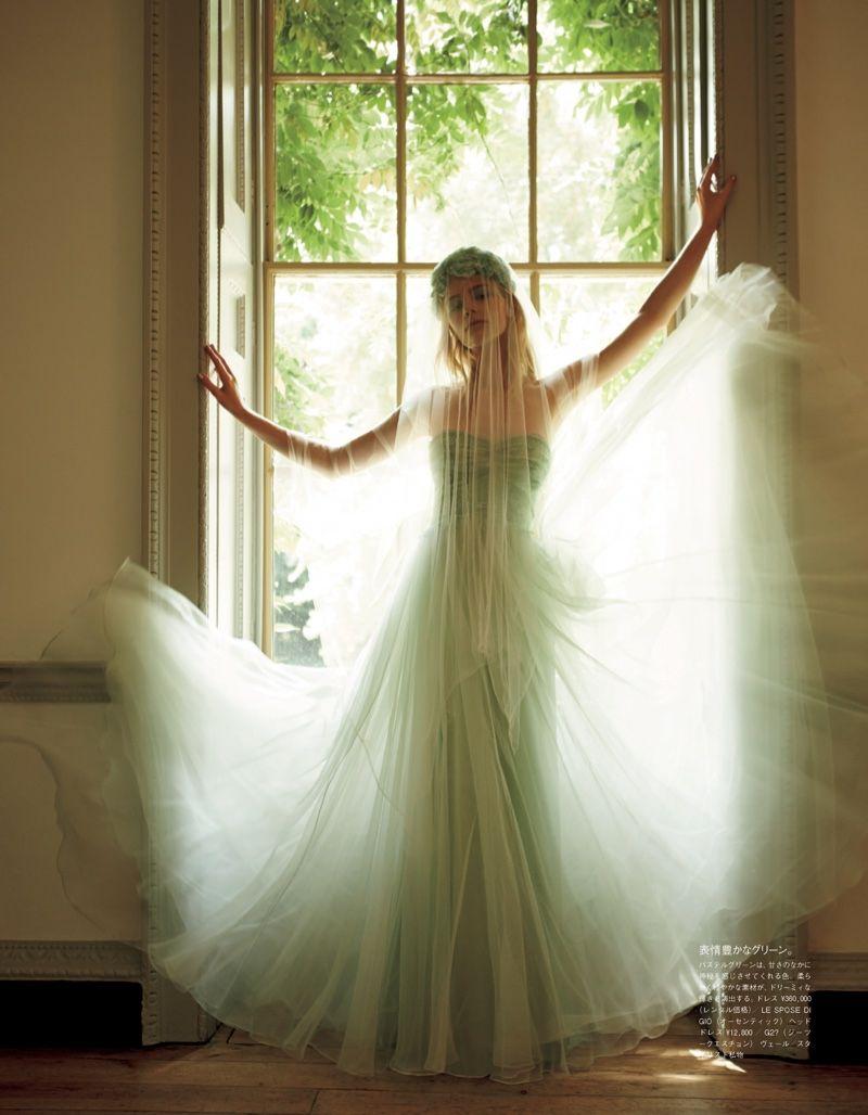 The Princess Wore Pastels: Vogue Japan Embraces Colorful Bridal ...