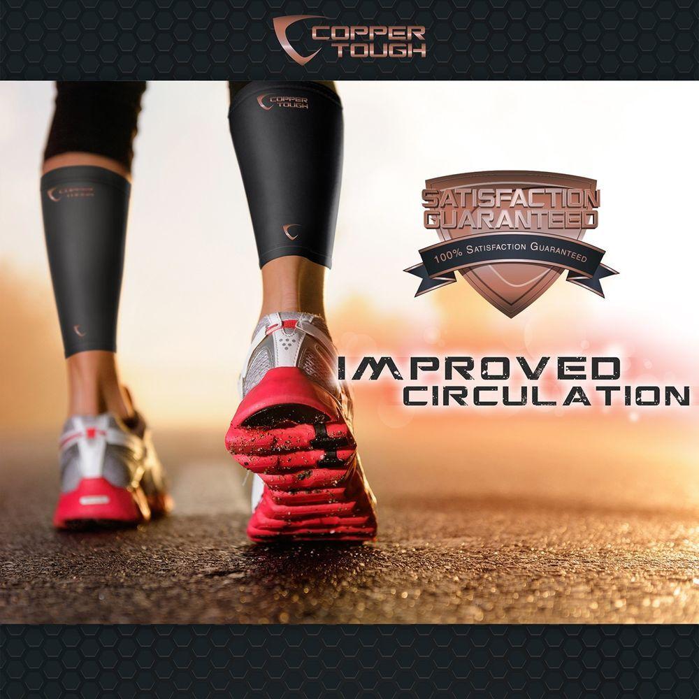Copper tough calf compression sleeves for enhanced