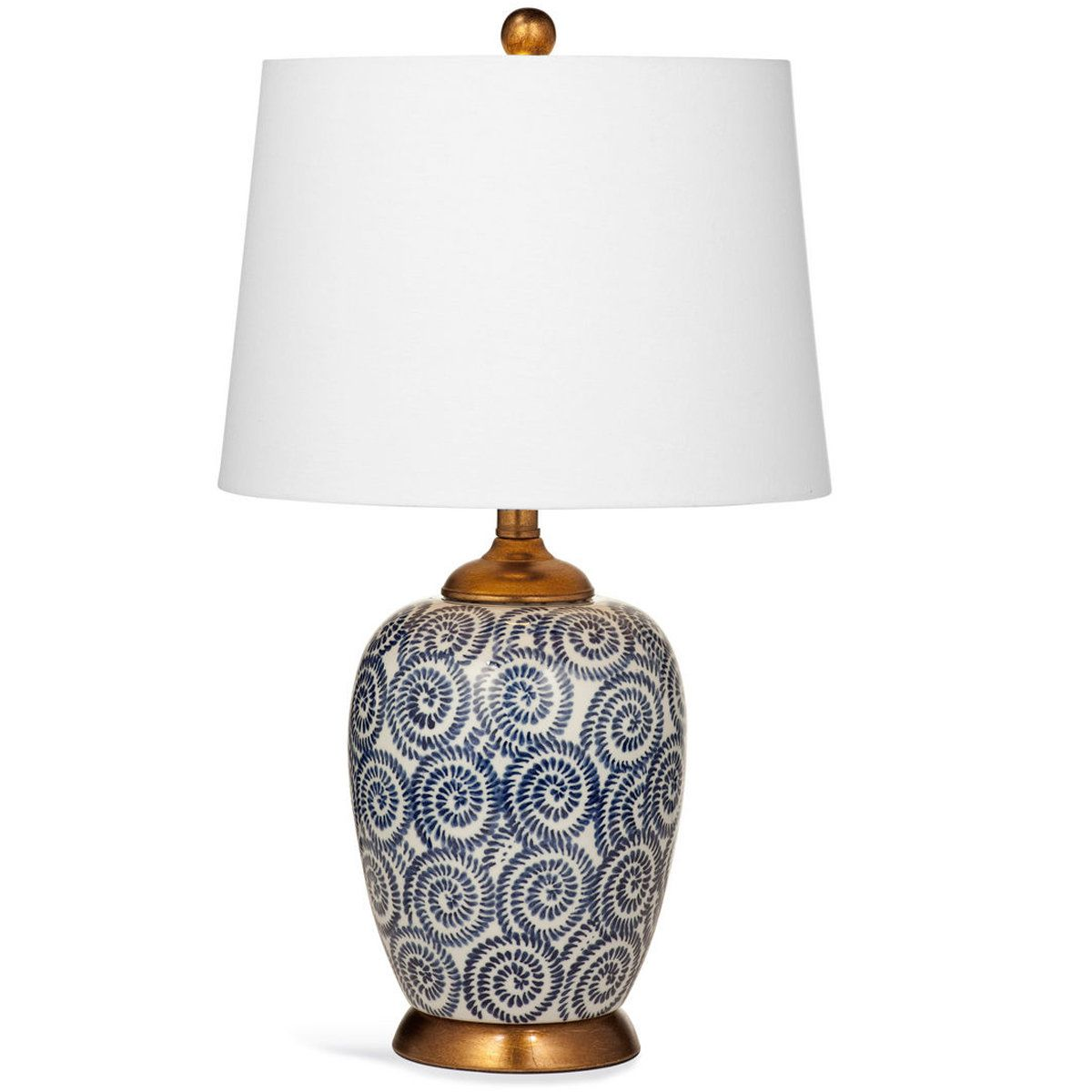 Navy And White Swirl Table Lamp Antique Lamp Shades Unique Lamps Modern Lamp Shades