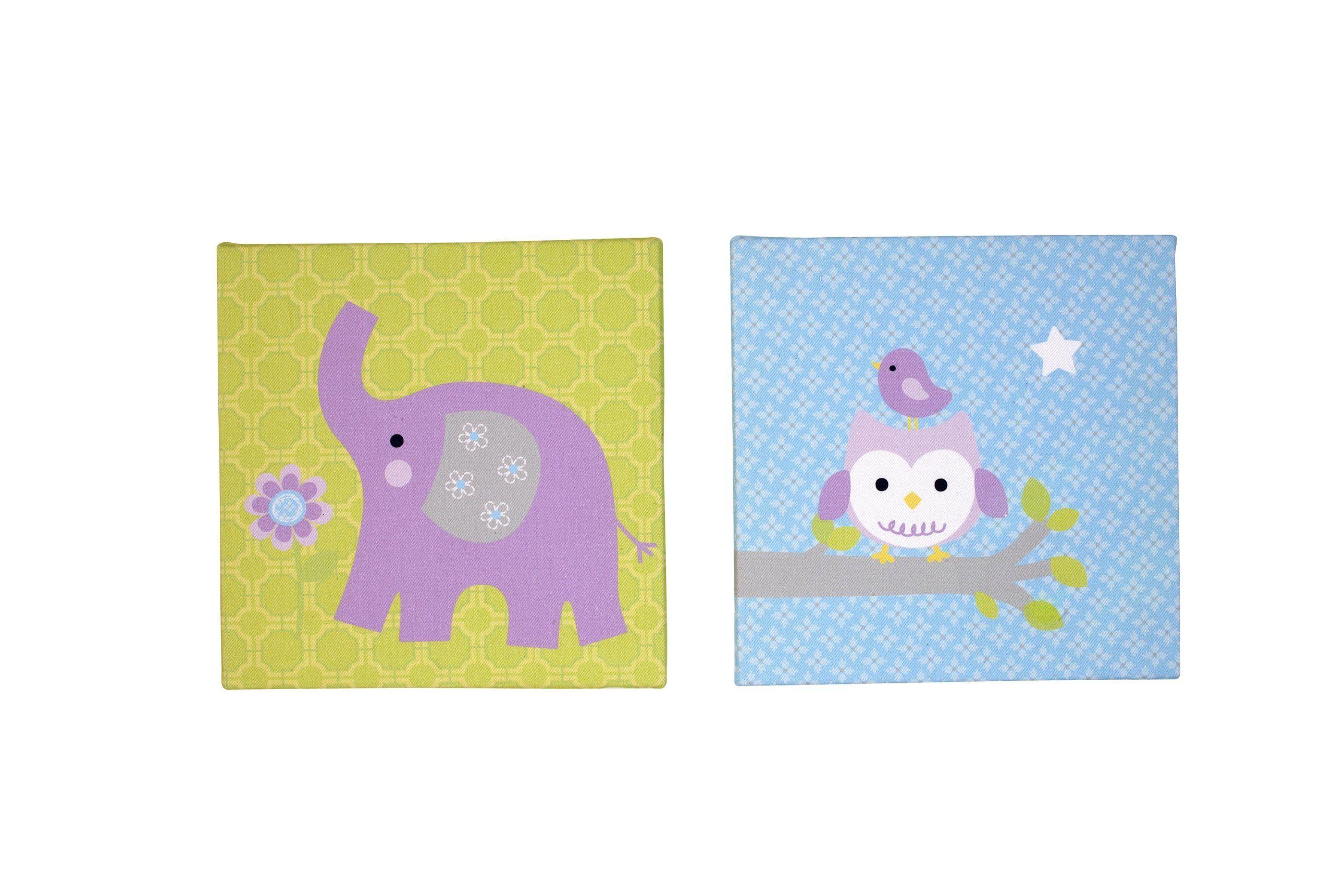 NoJo Dreamland Canvas Wall Decor, 2 Count | Dumbo or Elephant ...