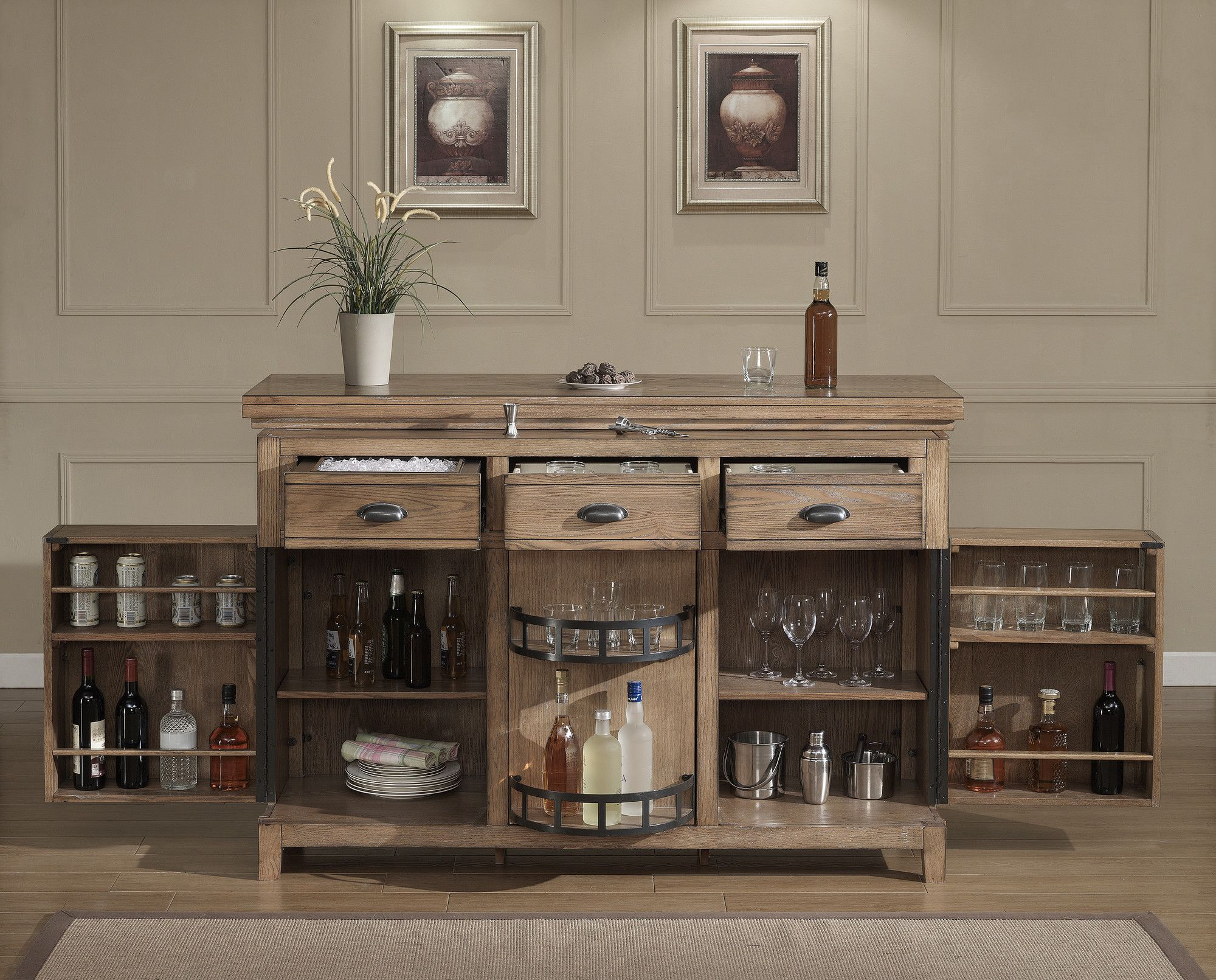 Great Evolution Bar Cabinet With Wine Storage. Small Home ...