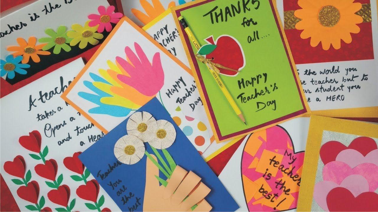 Diy Teacher S Day Card Handmade Teachers Day Card Making Idea Greeti Teachers Day Card Greeting Cards For Teachers Teacher Cards