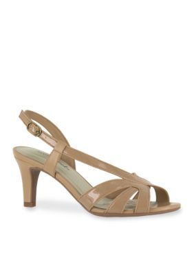Easy Street Nude Patent Desi Sandal
