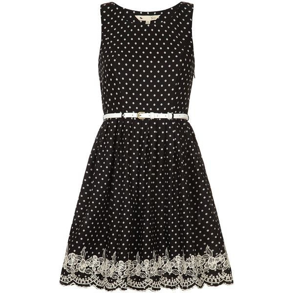 Black spotty lace dress