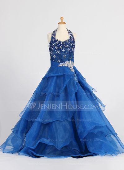 bb35405a5 100.99  A-Line Princess Floor-length Flower Girl Dress - Organza ...
