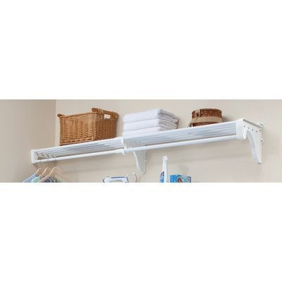 "EZ SHELF from Tube Technology 40""W - 73""W Shelf Finish: White"