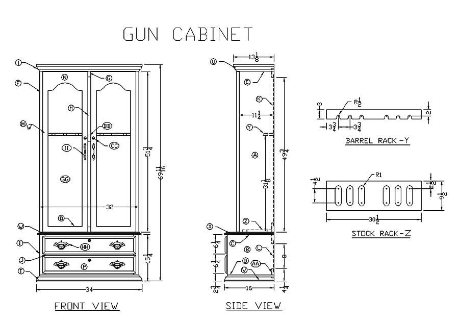 Plans For Gun Cabinets Free Woodworking Plans And Projects