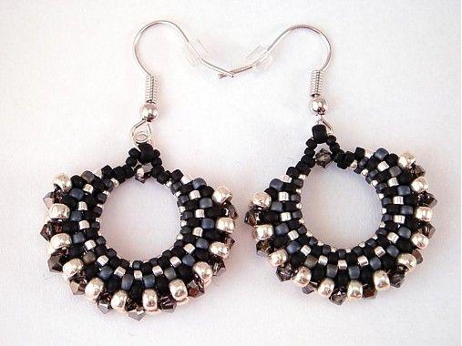 Salt & pepper hoops would BKdesign - SAShE.sk - Handmade Earrings