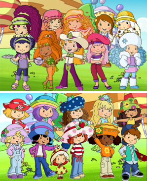 2003 strawberry shortcake characters art in all forms