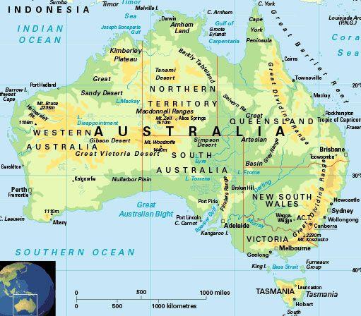 cool Australia Map Tourist Attractions Travelquaz Pinterest