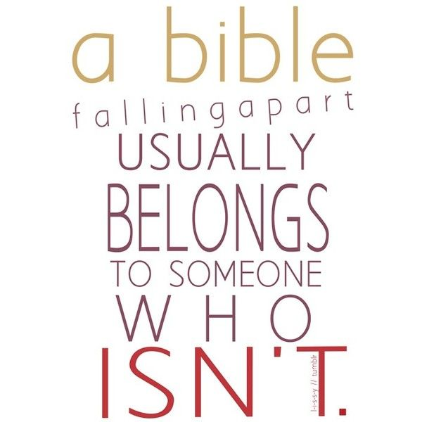 Open up the Bible and read God's word