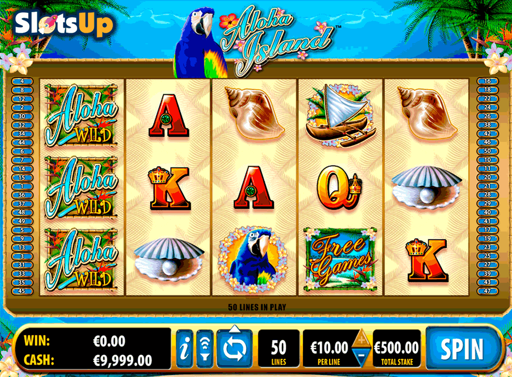 Aloha Island Slot by Bally Play FREE at SlotsUp! Poker