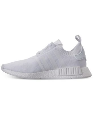 9c1be5948533 adidas Men s Nmd R1 Primeknit Casual Sneakers from Finish Line - White 10.5