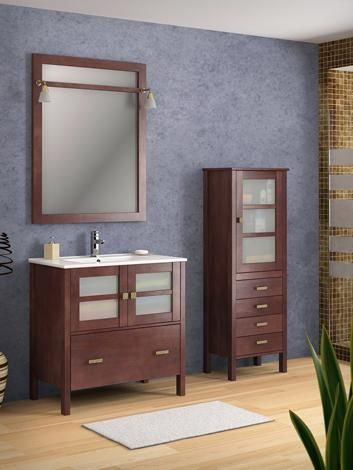 Cuartos de ba o c ceres muebles r sticos de madera muebles y auxiliares de ba o pinterest - Muebles rusticos bano ...