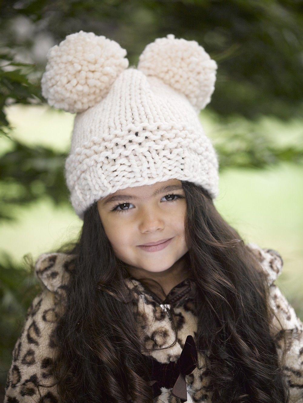 Pompoms Hat Pattern (Knit)   Knitting - Hat   Pinterest   Patterns ...