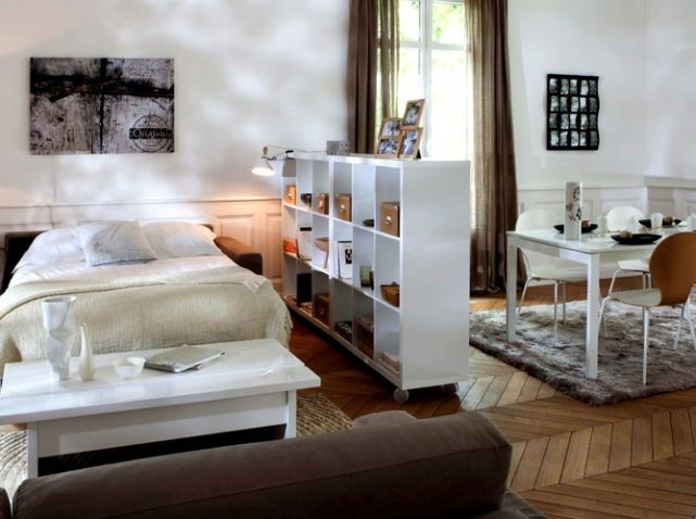 id e pour s parer une grande pi ce en deux d co. Black Bedroom Furniture Sets. Home Design Ideas