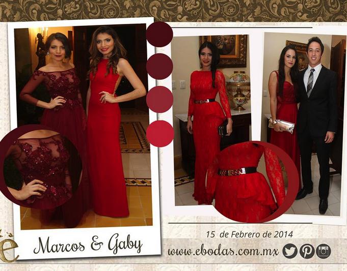 Durante la boda de Marcos & Gaby el rojo fue uno de los protagonistas de la noche, transparencias, bordados, encajes y cinturones fueron el hit de sus bellas invitadas #Trendy #Rojo #Red #Fashion #Wedding #BrideToBe