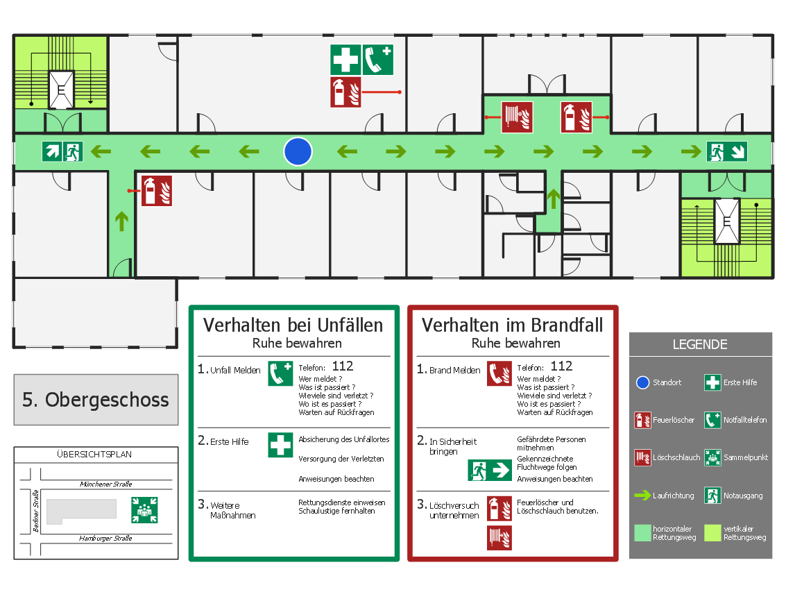Escape and Rescue Route Plan diagram was created in