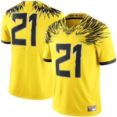6e6ff538b Men s Nike  21 Yellow Oregon Ducks Limited Football Jersey