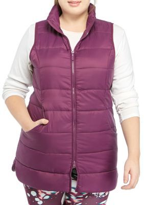 Photo of Zelos Women's Plus Size Long Puffer Vest – Mum – 0X