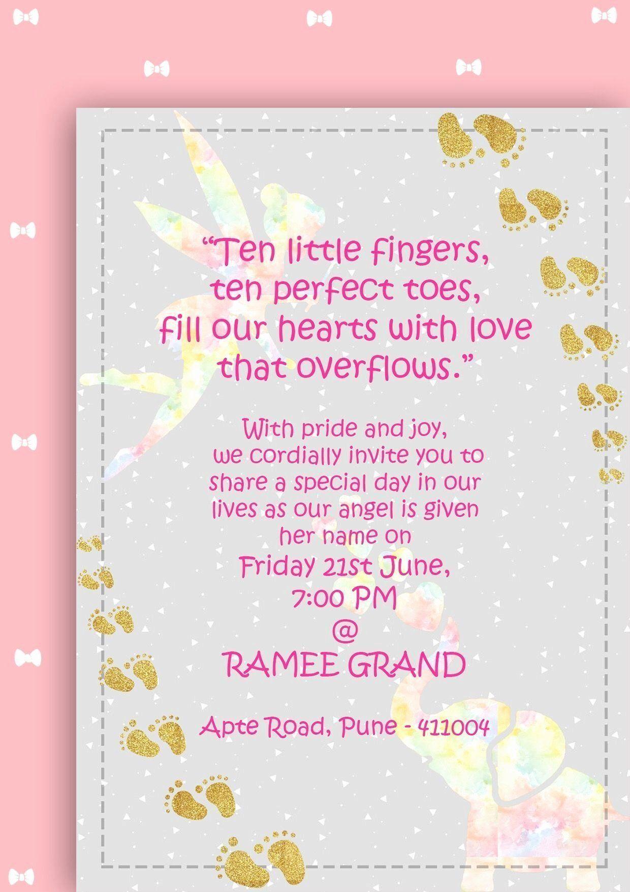 Cradle Ceremony Invitation Message Best Of Naming Ceremony Invitation Babygirl Indian Pastels Naming Ceremony Invitation Naming Ceremony Cradle Ceremony