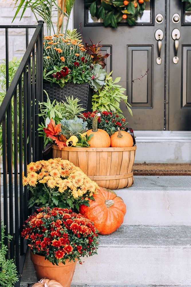 25 Best Front Porch Decor Ideas Porches Have Their Background In Very Early America An Fall Front Porch Decor Fall Decorations Porch Front Porch Decorating