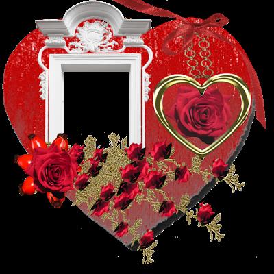 12 marcos frames o porta retratos png con rosas y - Marcos de corazones para fotos ...
