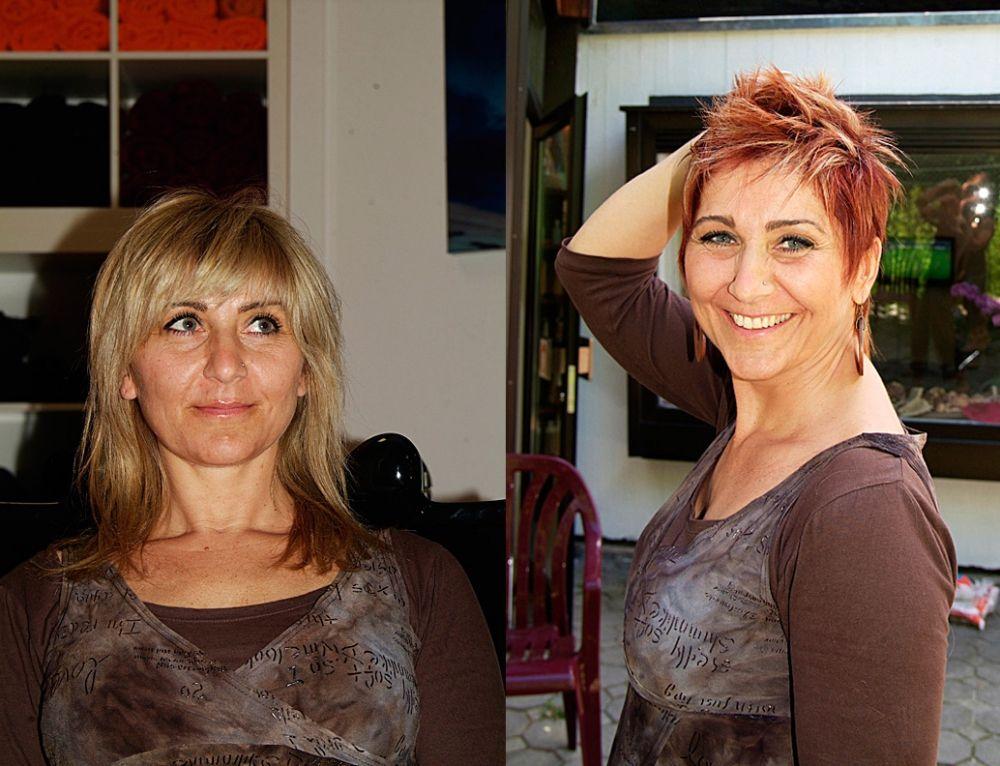 Frisuren Damen Vorher Nachher Frisuren Frauen Pinterest