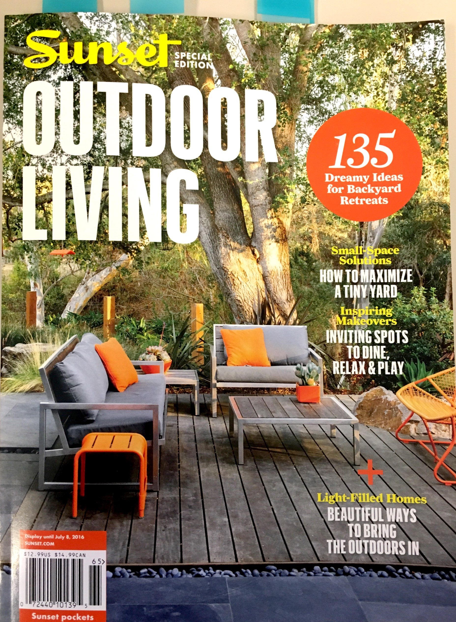 Beautiful Sunset Magazine Outdoor Living Summer 2016 Issue   Fermob Sixties Chair And  Low Luxembourg Table.