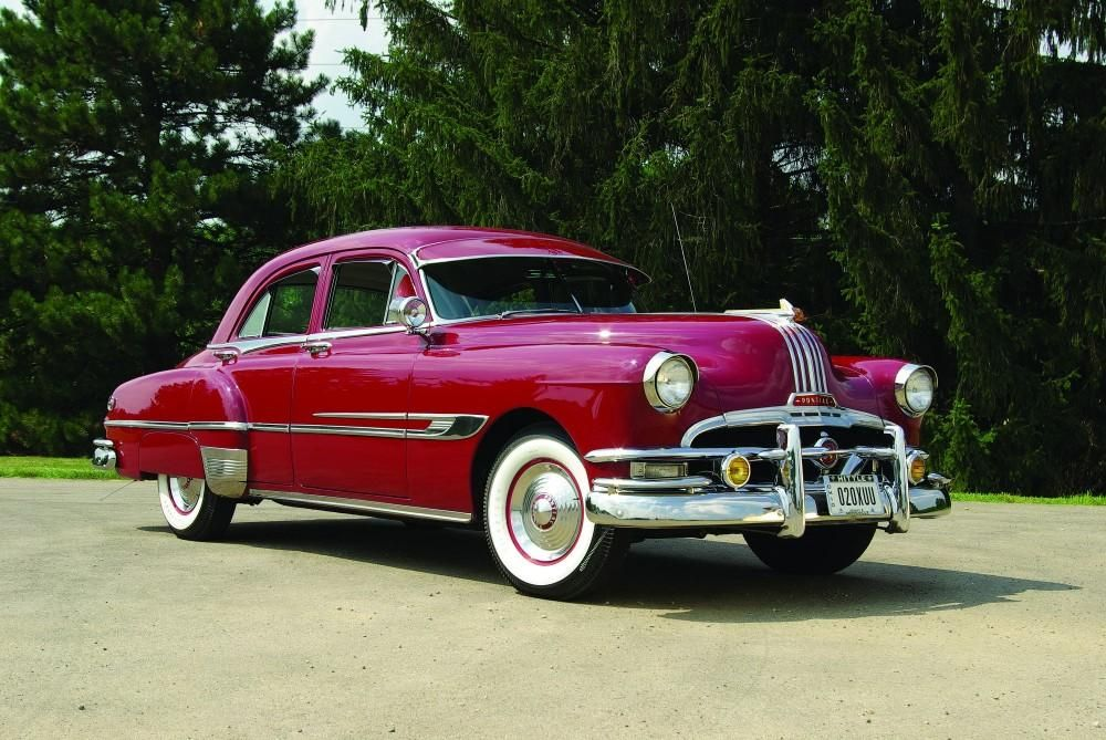 1952 pontiac chieftain deluxe four door sedan diff color