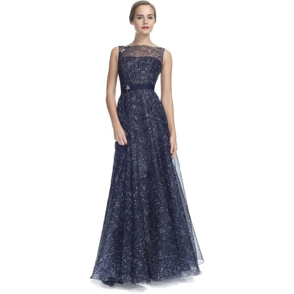 6e10ccd7e5e3a Carolina Herrera Constellation Organza Sleeveless Gown ( 5