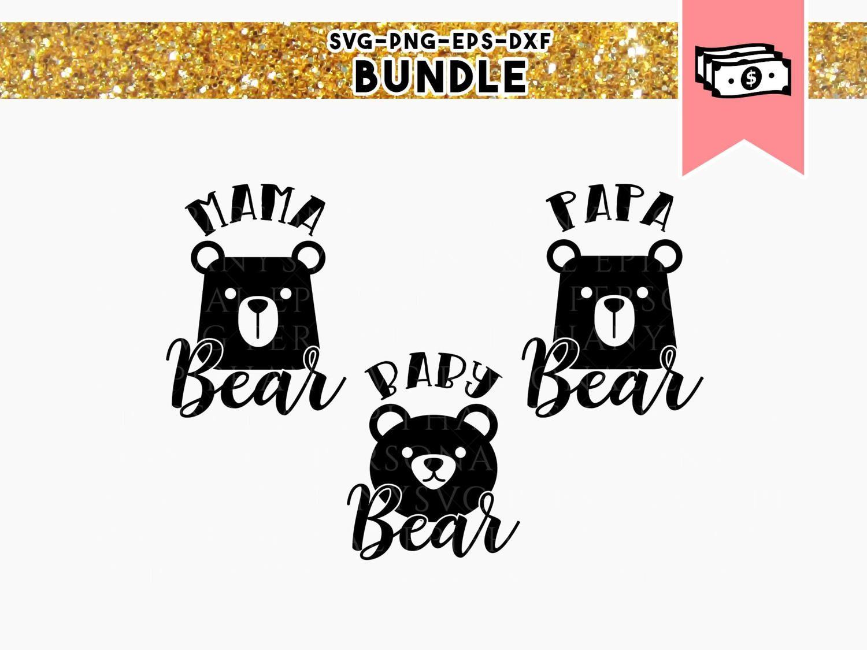 bear family svg mama bear svg baby bear svg svg bundle family