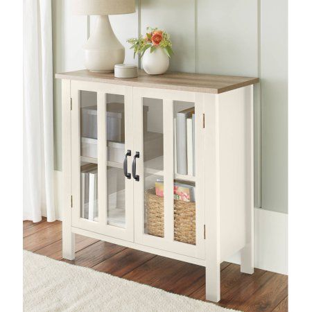 Better Homes and Gardens Bedford 2 Door Cabinet, Ivory Bedford