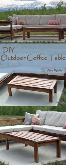 Charming Kick Back With Ana Whiteu0027s Gorgeous DIY Outdoor Coffee Table. All You Need  Is A