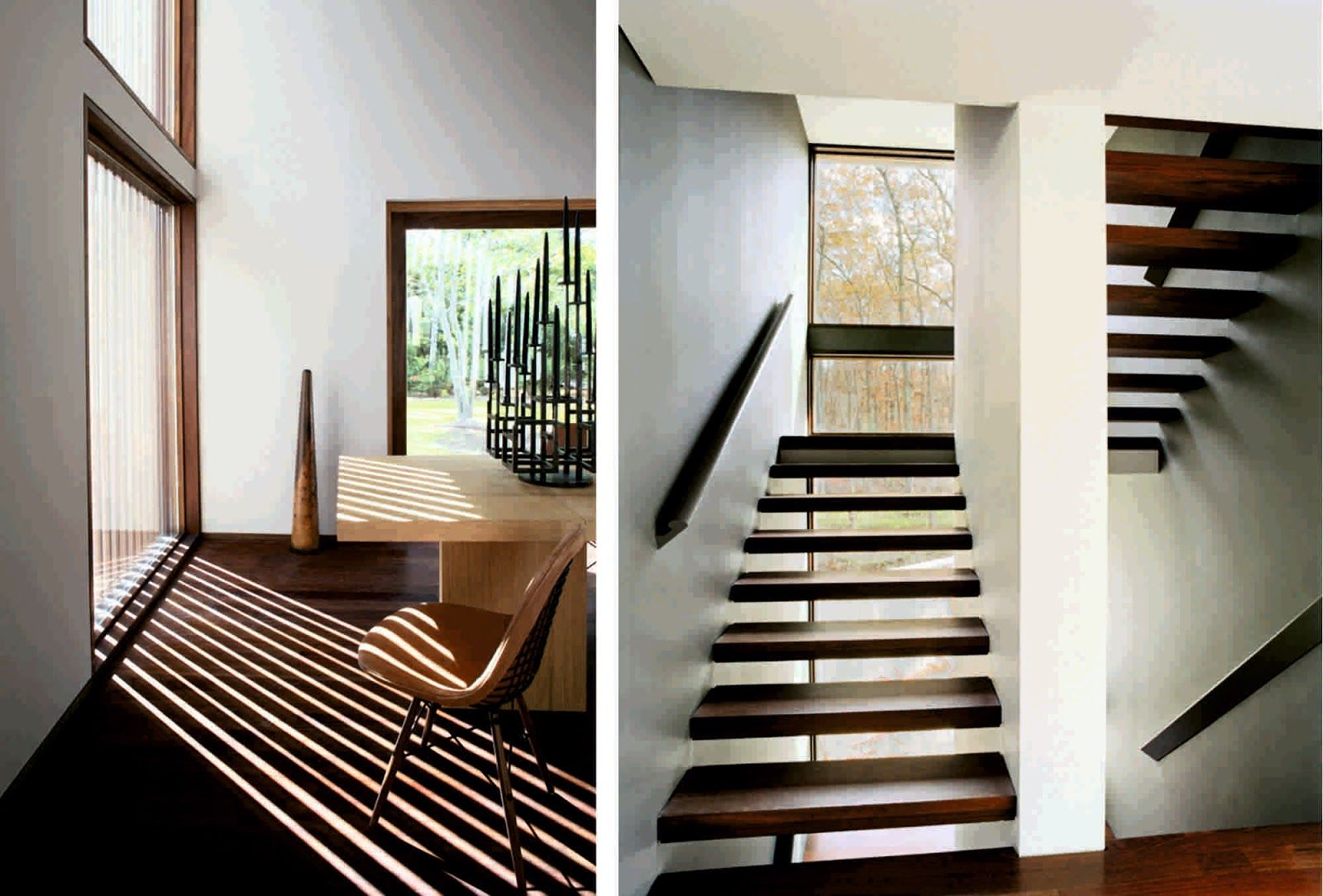 Comfortable Sagaponac House By Tsao Mckown Architects Stairs