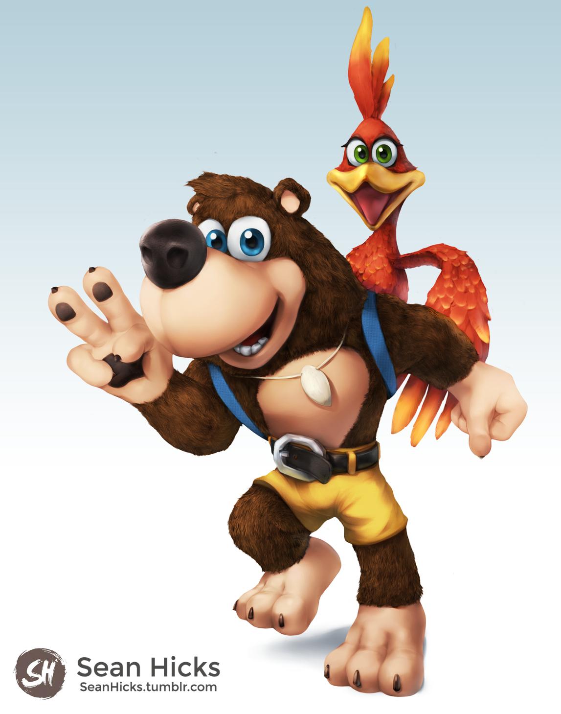 Banjo Kazooie Ssb4 Like Render Super Smash Brothers Banjo Kazooie Banjo Nintendo Super Smash Bros