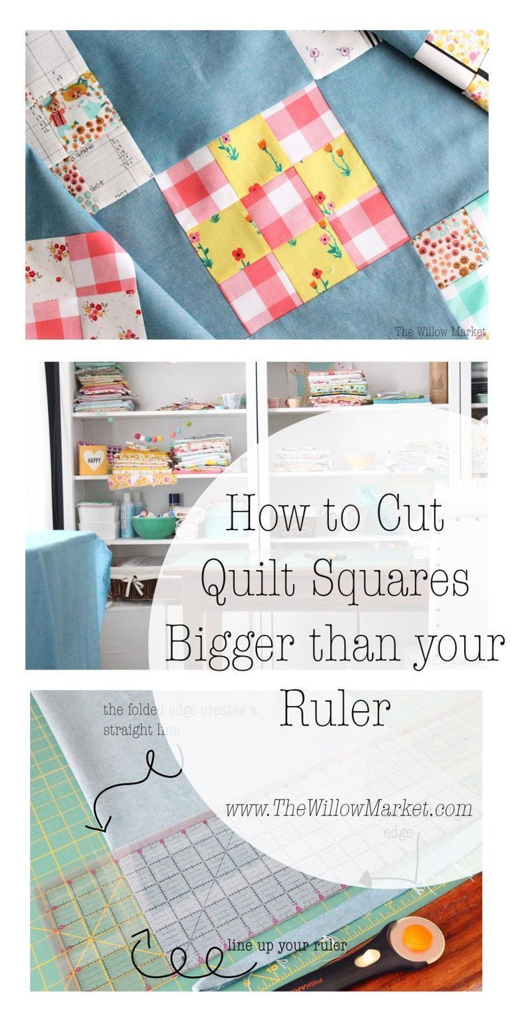 How to Cut Quilt Squares Bigger than your Ruler is part of Square quilt, Quilt sewing, Quilt fabric, Quilting techniques, Quilts, Quilting rulers - (Please note that affiliate links have been used in this post ) I remember the early days of sewing and trying to figure out how to cut up all this new found fabric in an effort to sew it back toge…