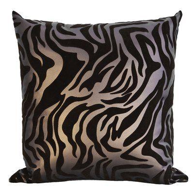 Bijou Coverings Flocked Throw Pillow Color: Brown