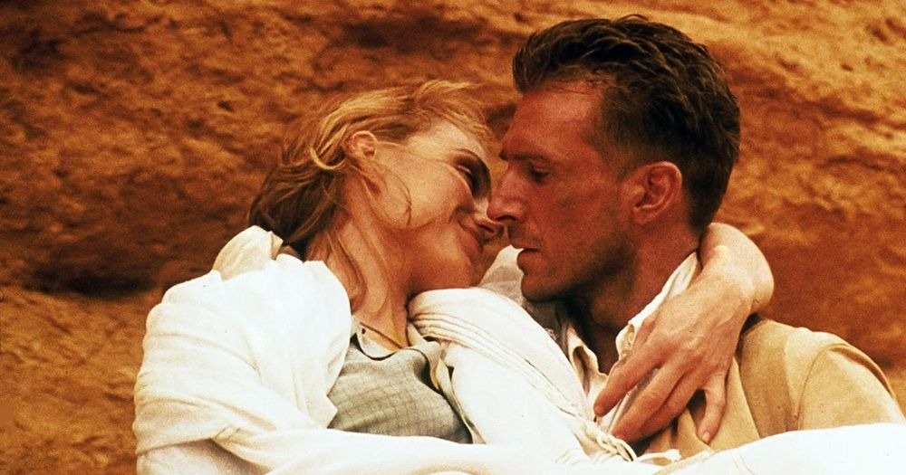 The English Patient  He is carrying her into the cave of swimmers....